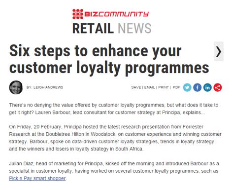 Bizcommunity Coverage: customer loyalty programmes