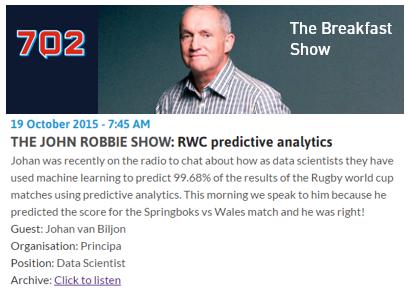 John Robbie Rugby Predictive Analytics