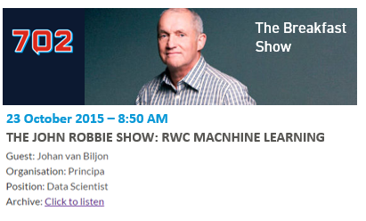 John Robbie Talsk about machine learning