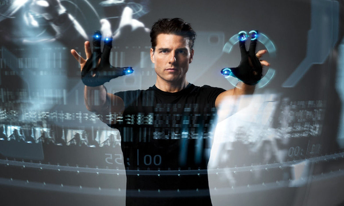 Tom Cruise in Minority Report using predictive analytics to predict crime