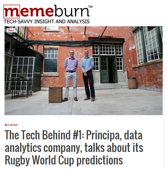 Principa talks data analytics with tech savvy listeners
